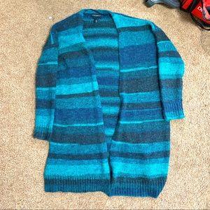 Lane Bryant wool striped cardigan